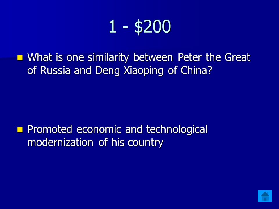 1 - $100 Which Leader's policies included Glasnost and Perestroika.
