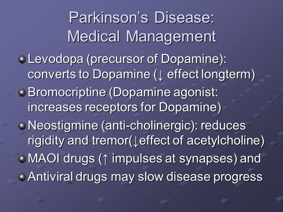 Adult Medical-Surgical Nursing Neurology Module: Parkinson's