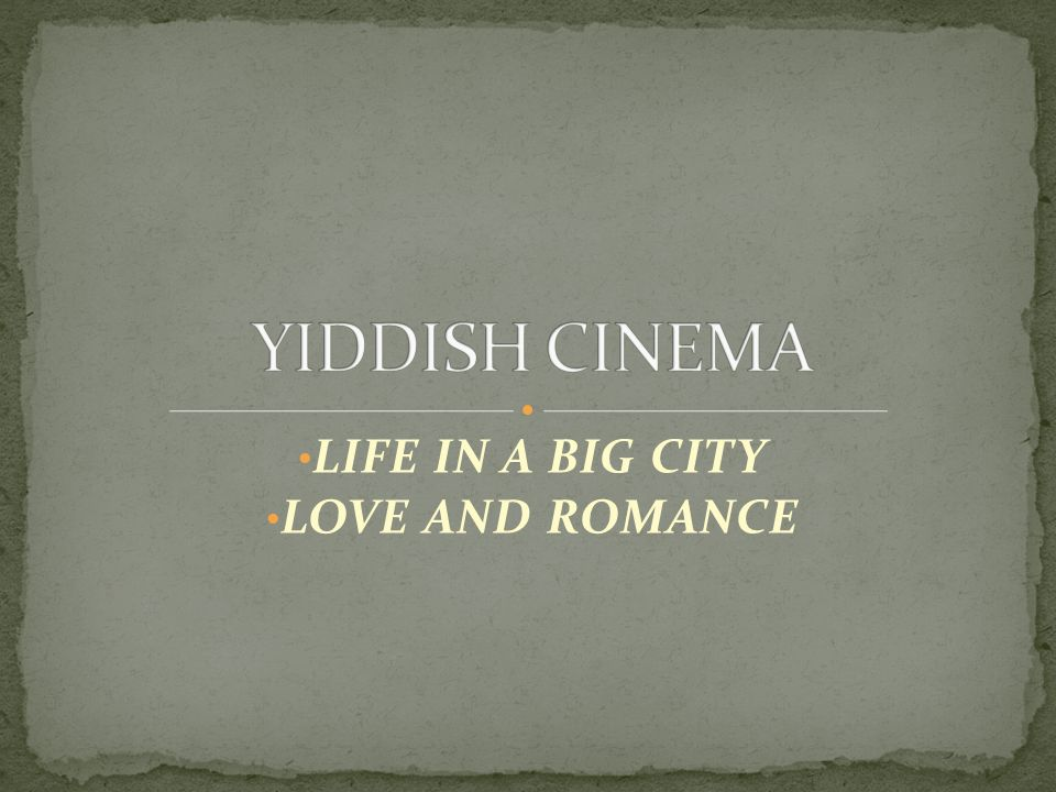 LIFE IN A BIG CITY LOVE AND ROMANCE  Polish-American production