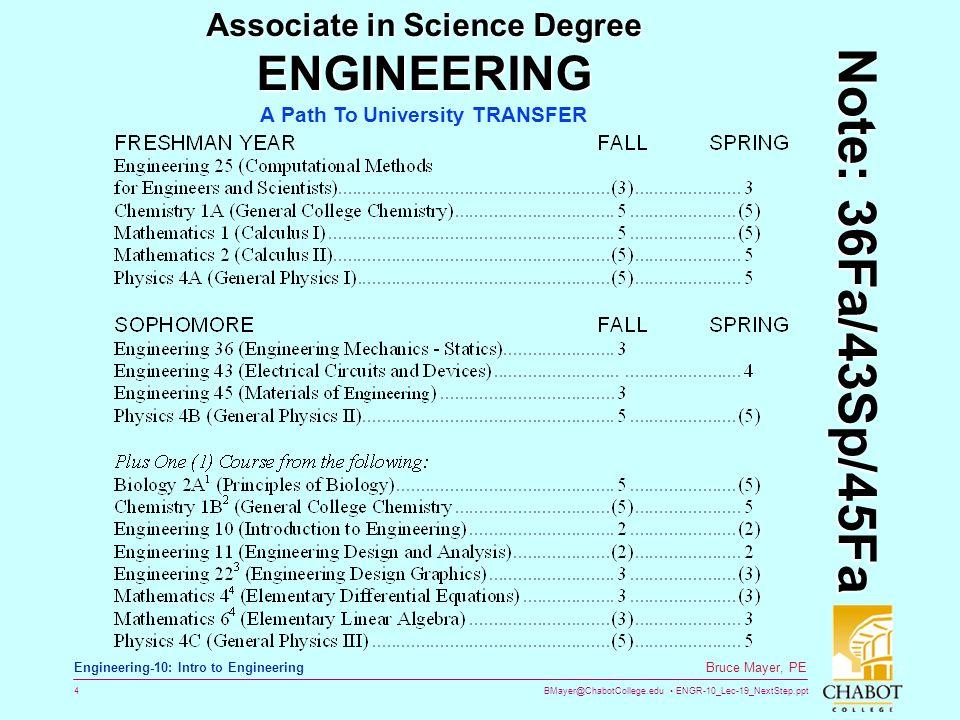 ENGR-10_Lec-19_NextStep ppt 1 Bruce Mayer, PE Engineering-10