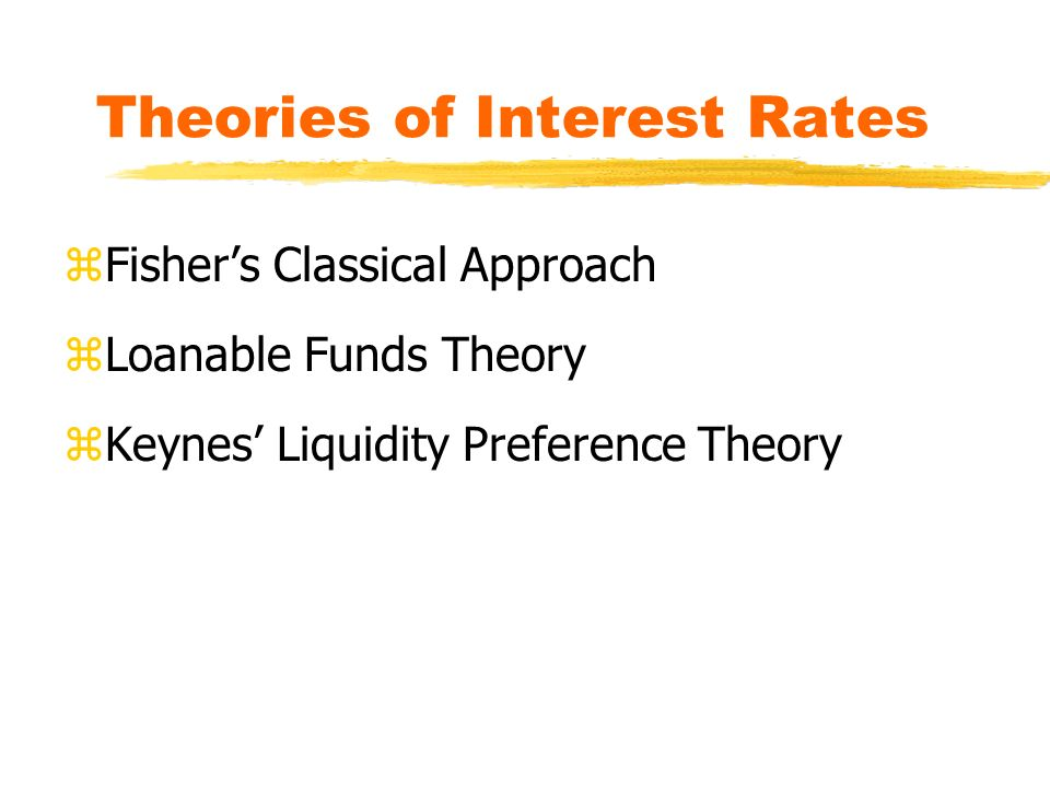 fisher theory of interest rates