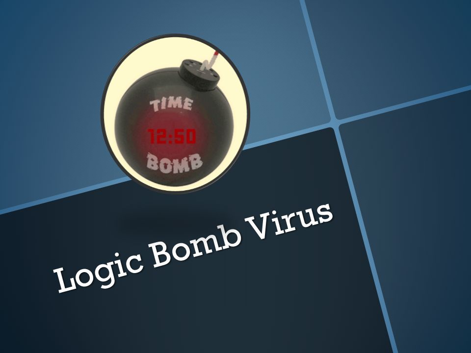 Logic Bomb Virus.  The first use of a time bomb in software may