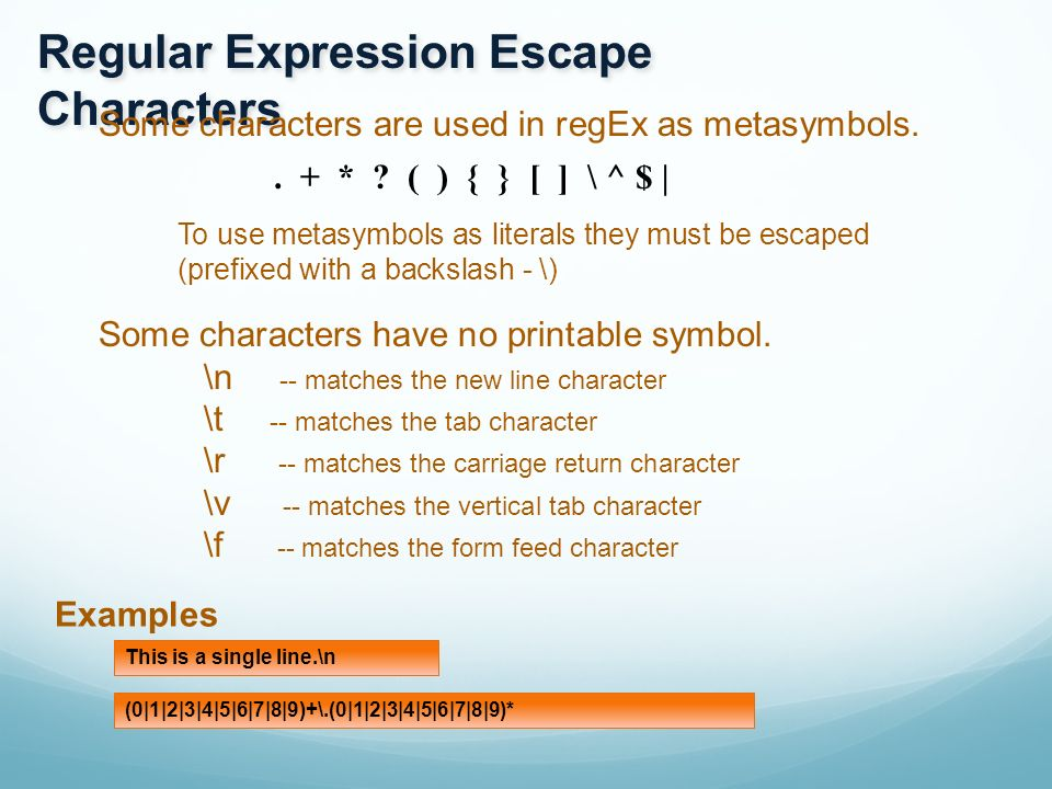 Regular Expressions Regular Expressions Are A Language For String