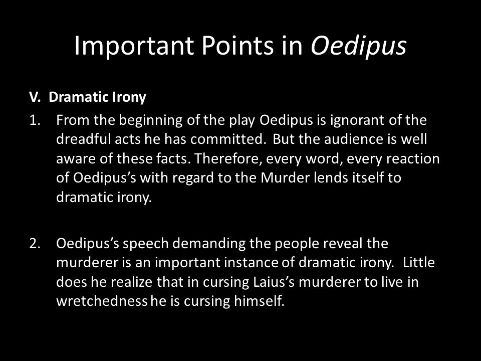 At the climax of the story oedipus realizes that