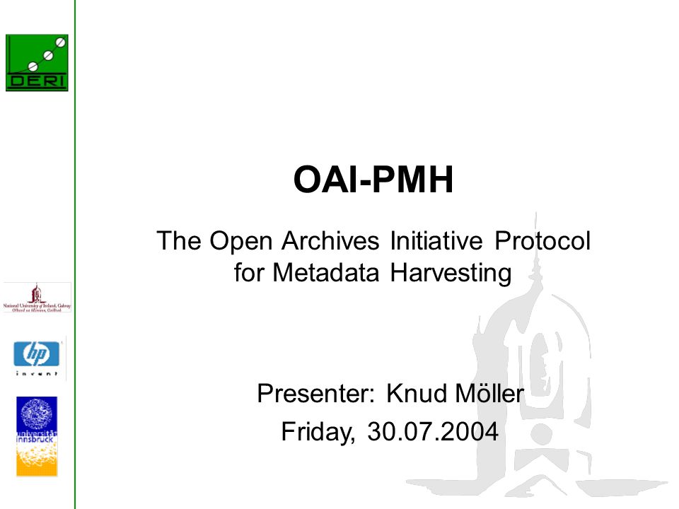 OAI-PMH The Open Archives Init...