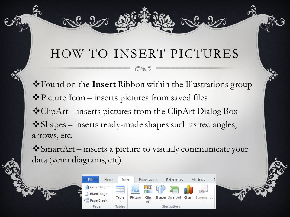 Illustrations and graphics in word how to insert pictures found 2 how ccuart Choice Image