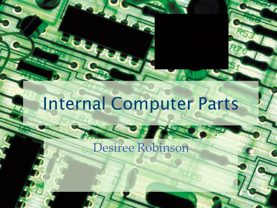 Internal Computer Parts Desiree Robinson  Input Devices