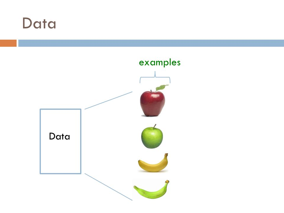 Data examples Data