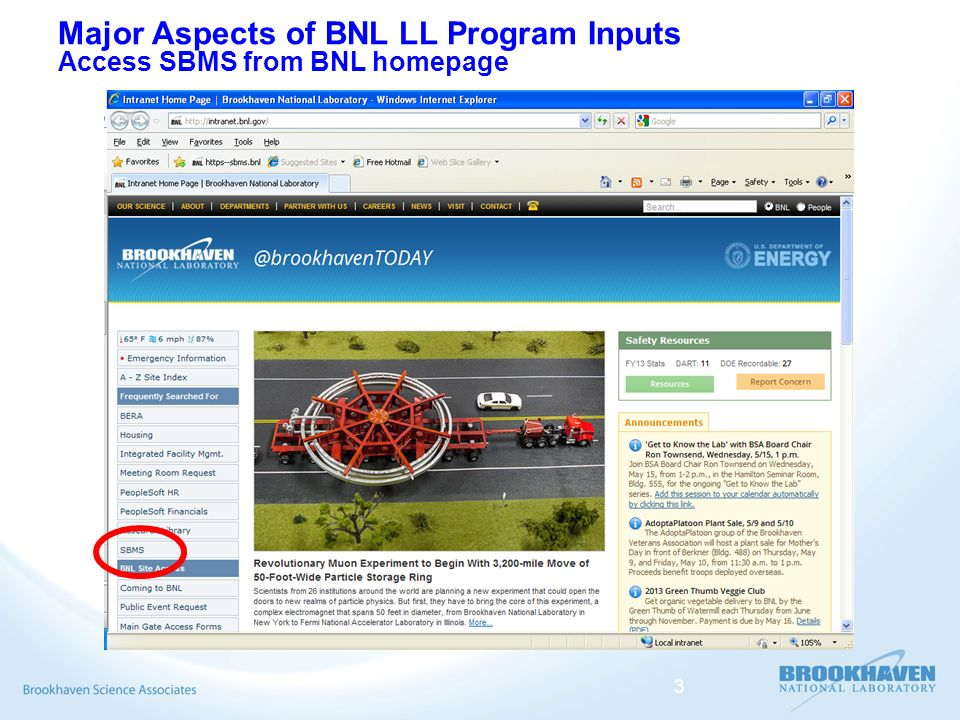Brookhaven National Laboratory Lessons Learned (LL)Program