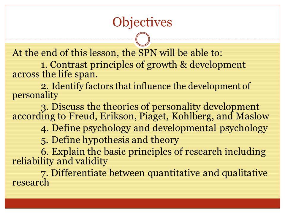 principles of development in psychology