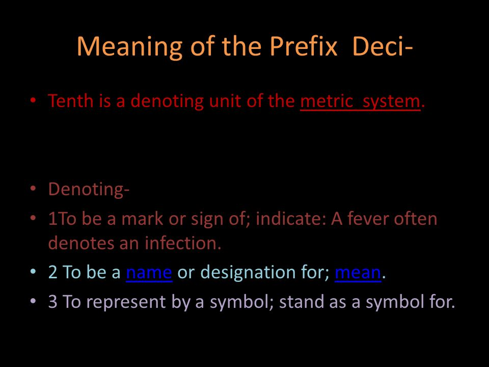 The Prefix Deci By Grace And Nick Meaning Of The Prefix Deci