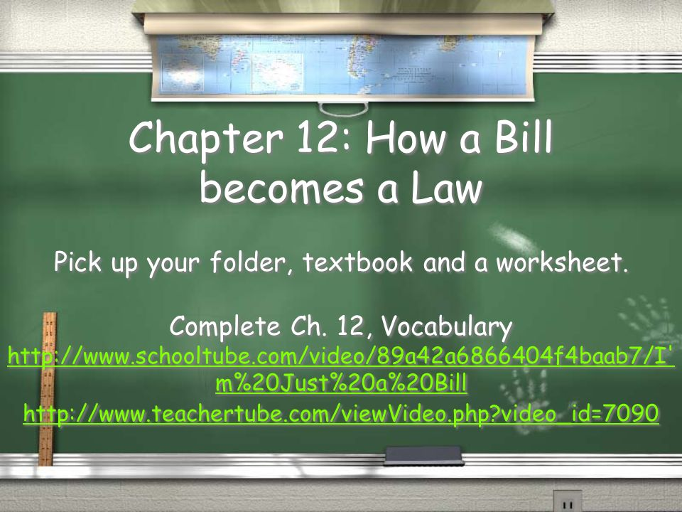 chapter 12 how a bill becomes a law pick up your folder textbook and - How A Bill Becomes A Law Worksheet