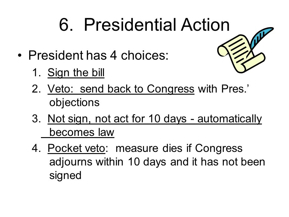 Chapter 12: How a Bill becomes a Law Pick up your folder, textbook ...