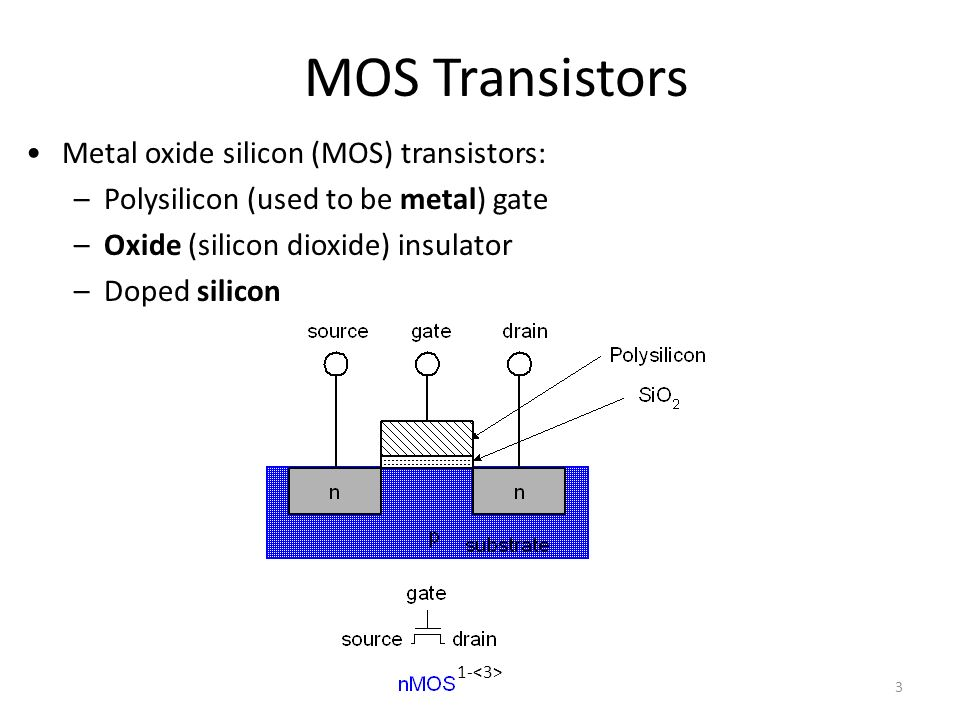 Class 02 DICCD Transistors: Silicon Transistors are built out of