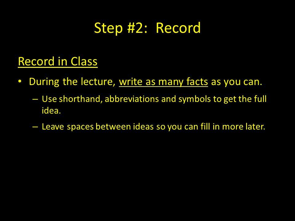 The Cornell Note Taking System Step 1 Prepare Cue Column 2