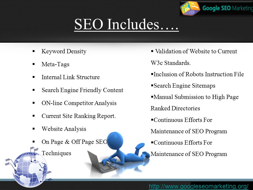 SEO Includes….