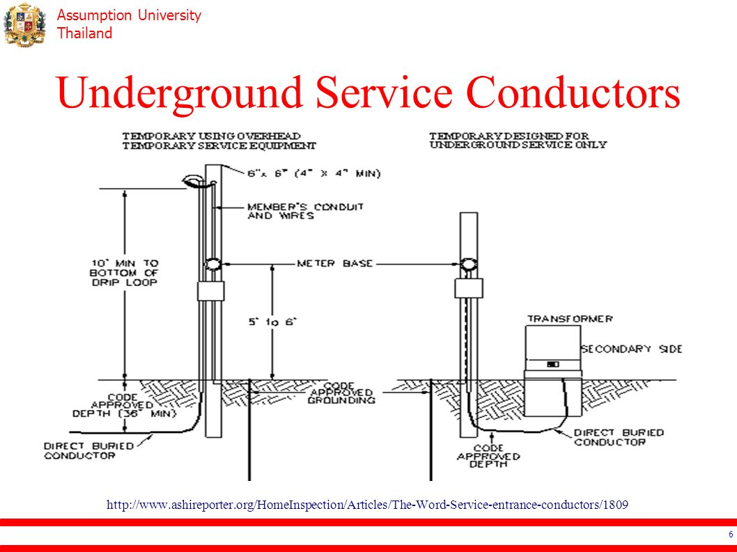 Assumption University Thailand Ee4503 Electrical Systems Design Main Electric  Meter Wiring Diagram Direct Burial Electrical Service Entrance Diagram