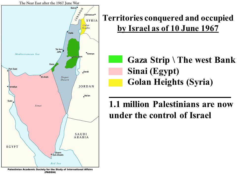 Consider, Gaza strip and the west bank remarkable, rather