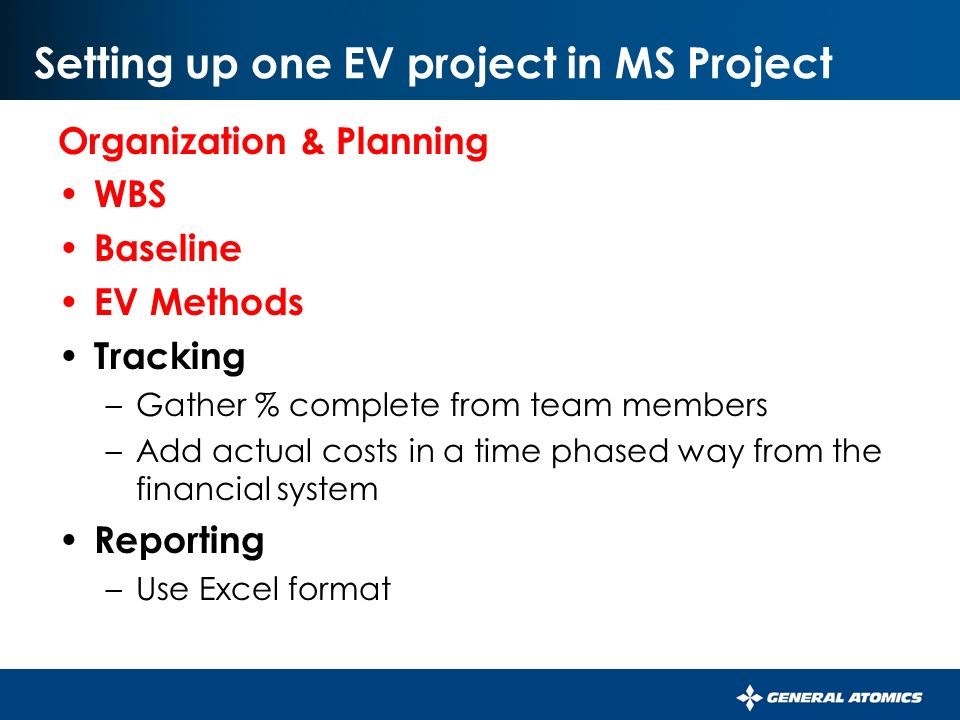 Microsoft Project Association Building An Ev System Using Ms Project
