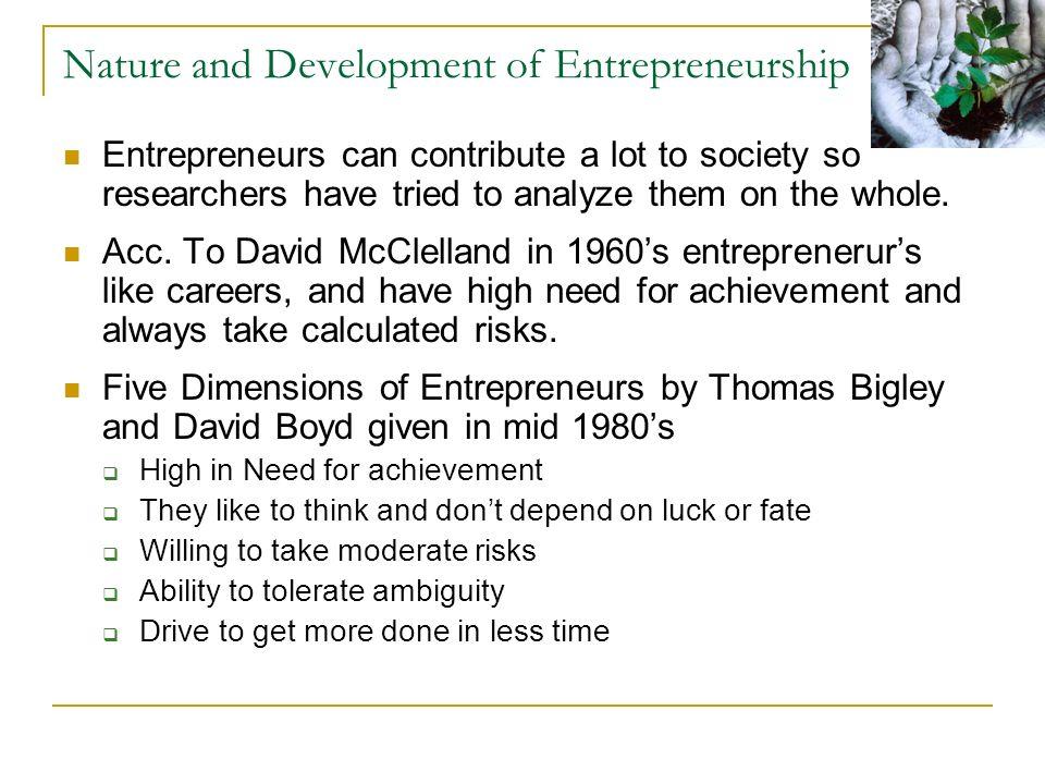 mcclelland theory of entrepreneurship