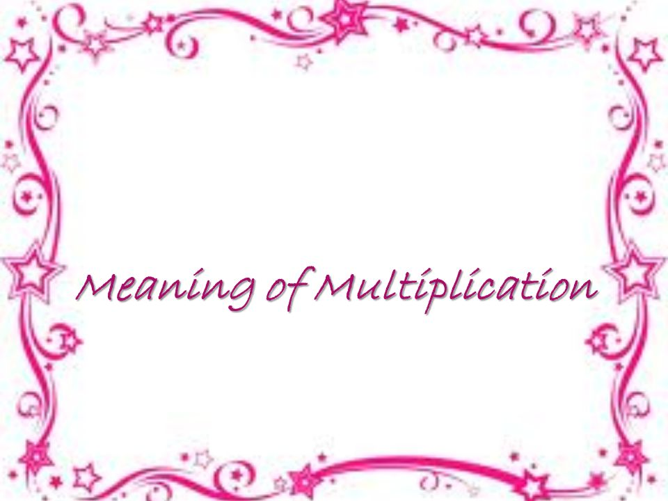 Meaning of Multiplication