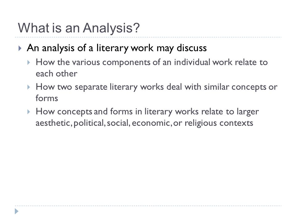 High Quality 6 What Is An Analysis?