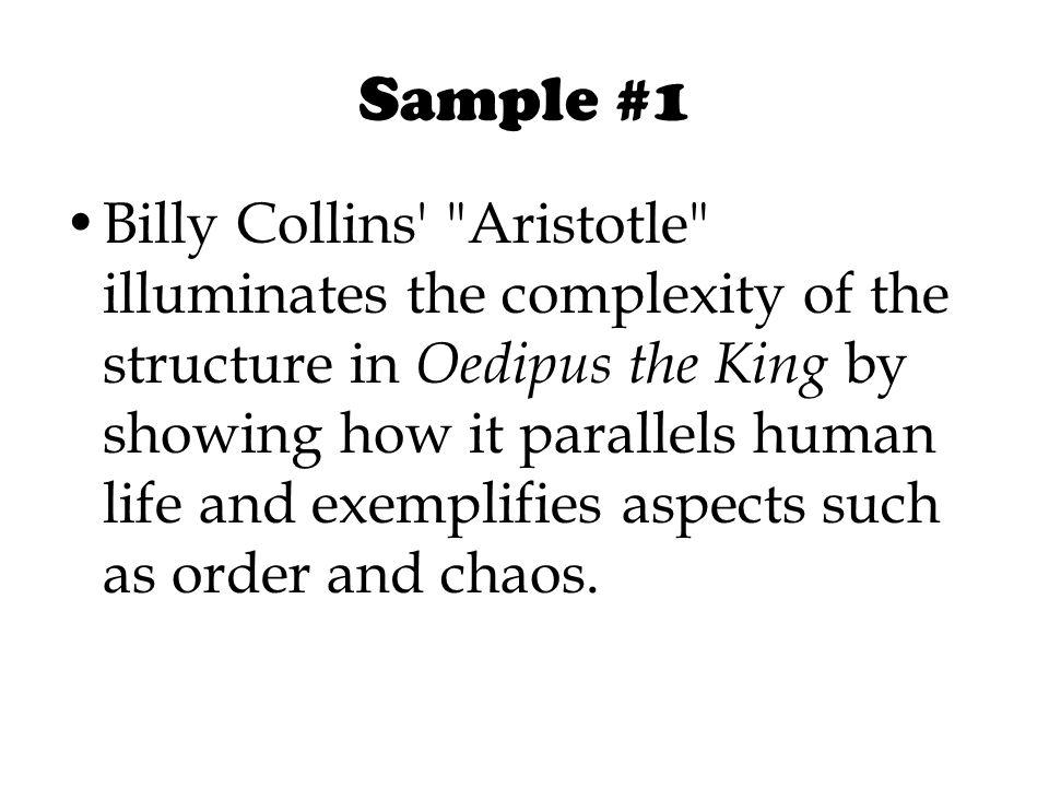oedipus rex thesis paper