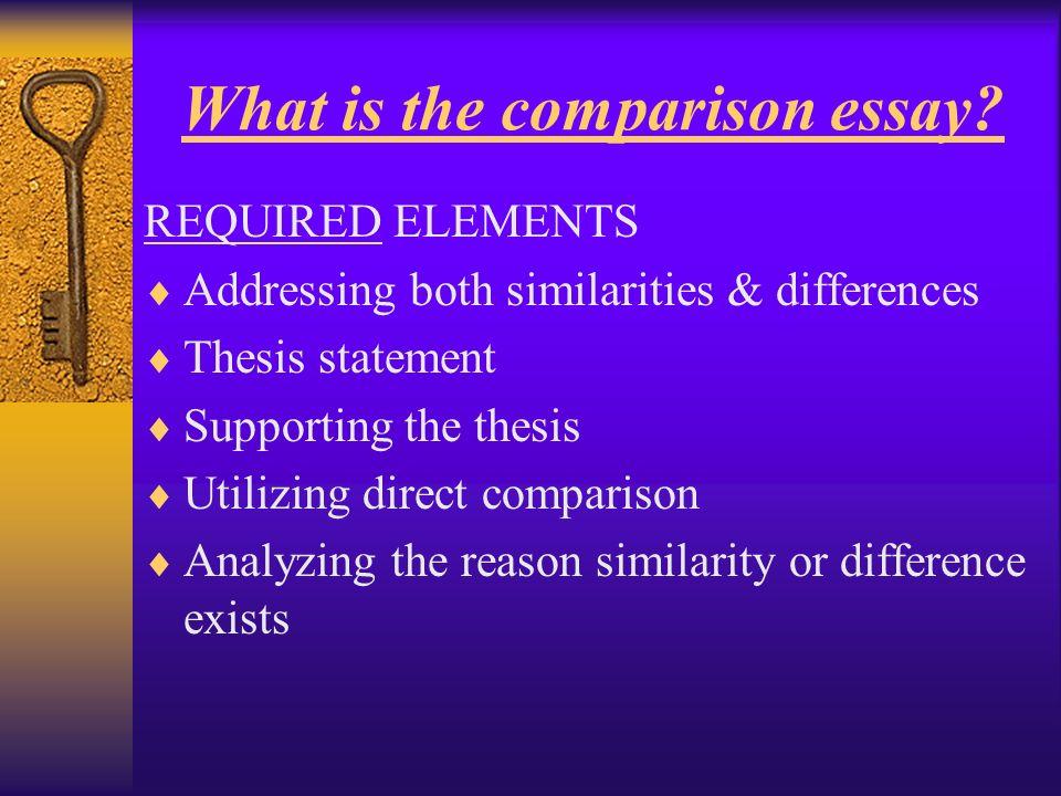 comparison thesis