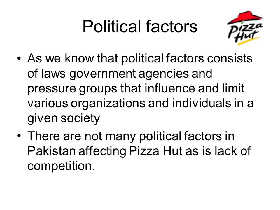 pizza hut economic environment