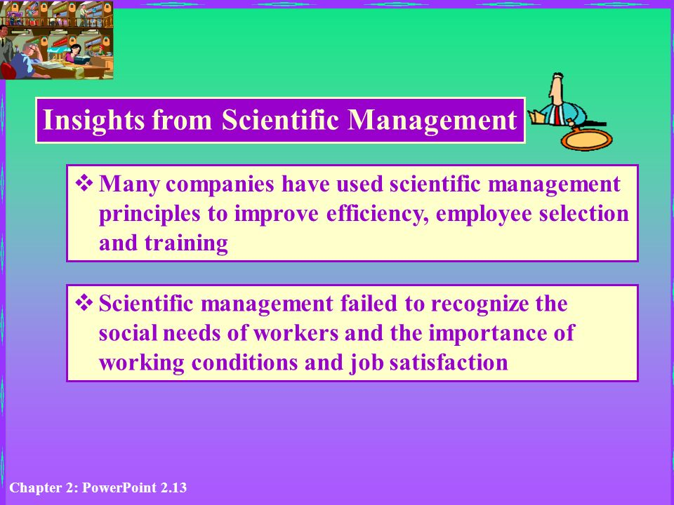 Chapter 2: Learning from the History of Management Thought Don