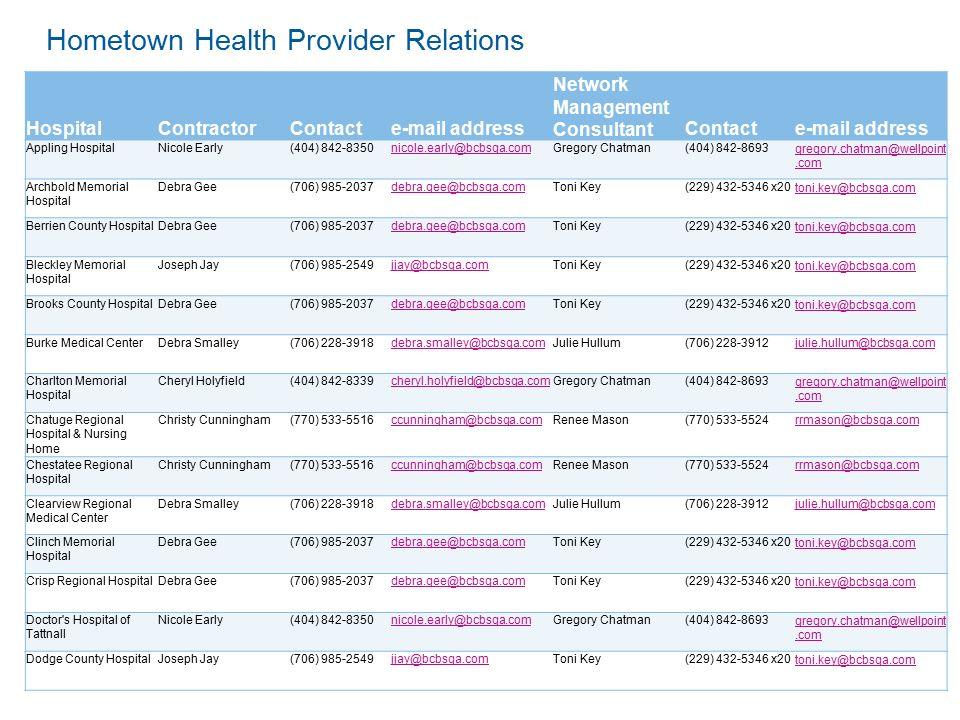 Hometown Health October 2, State Health Network – SHBP Blue