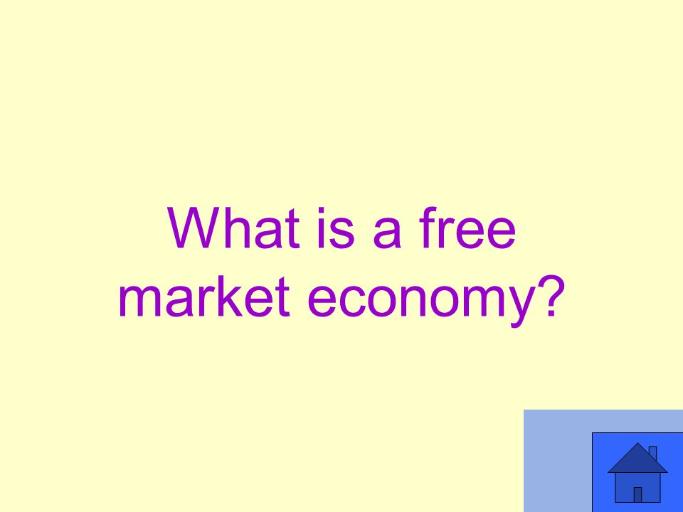 What is a free market economy