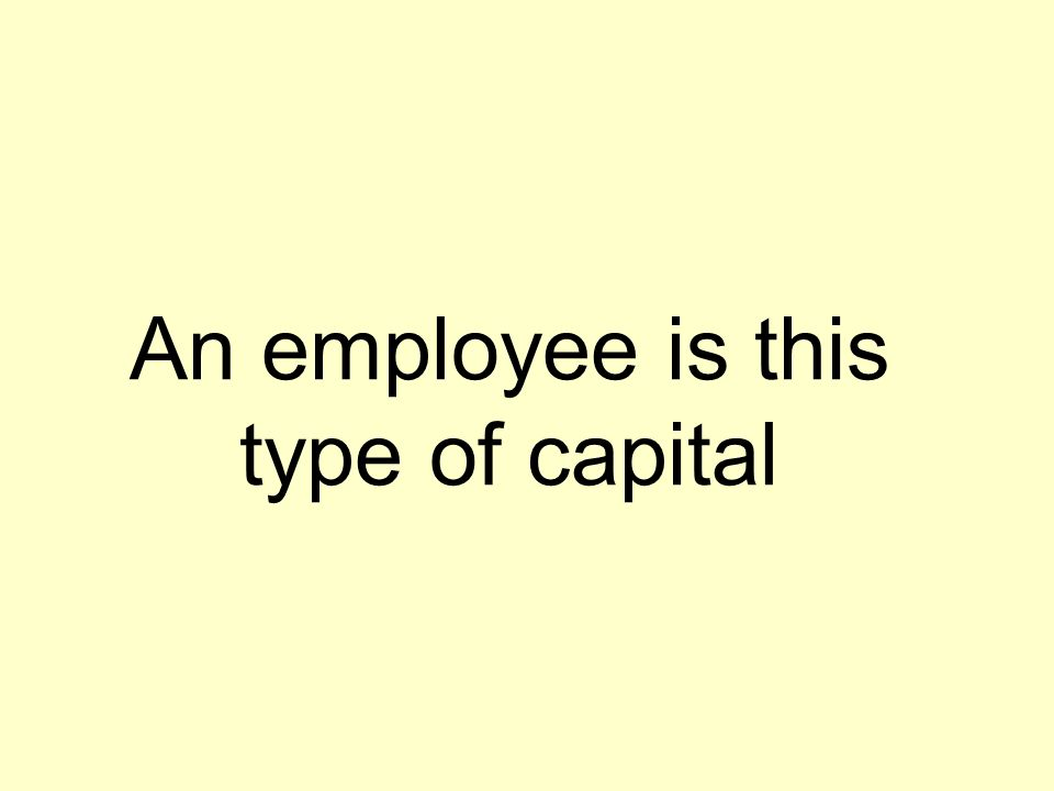 An employee is this type of capital