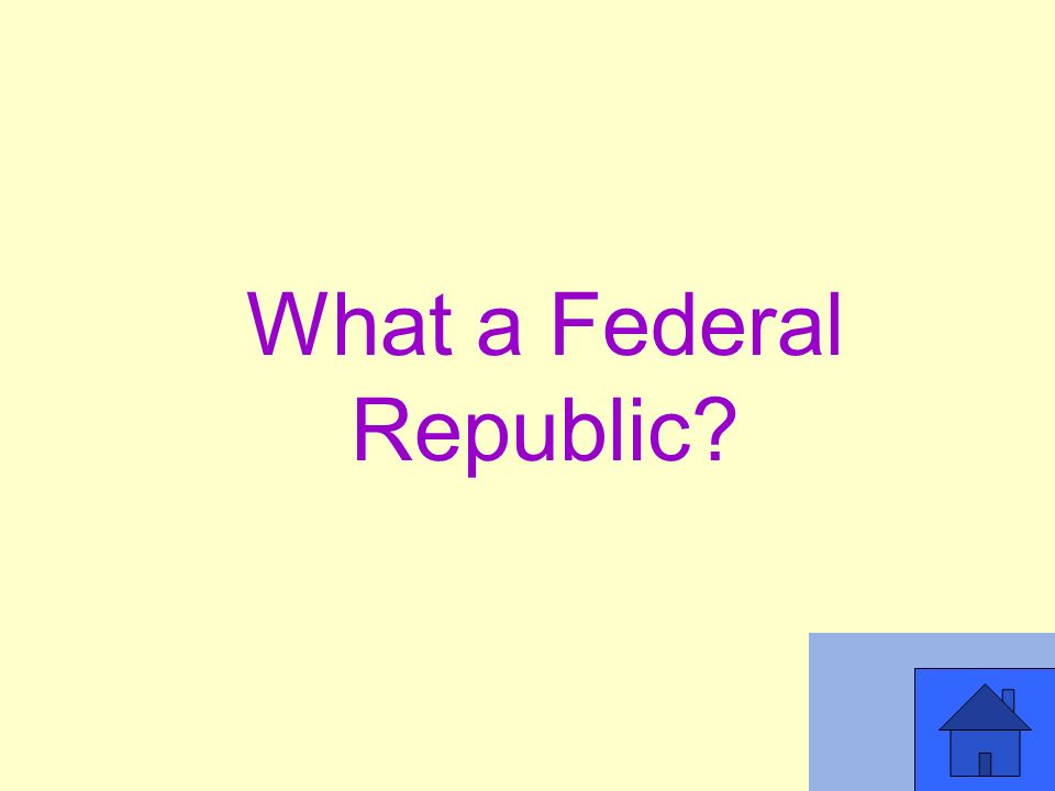 What a Federal Republic
