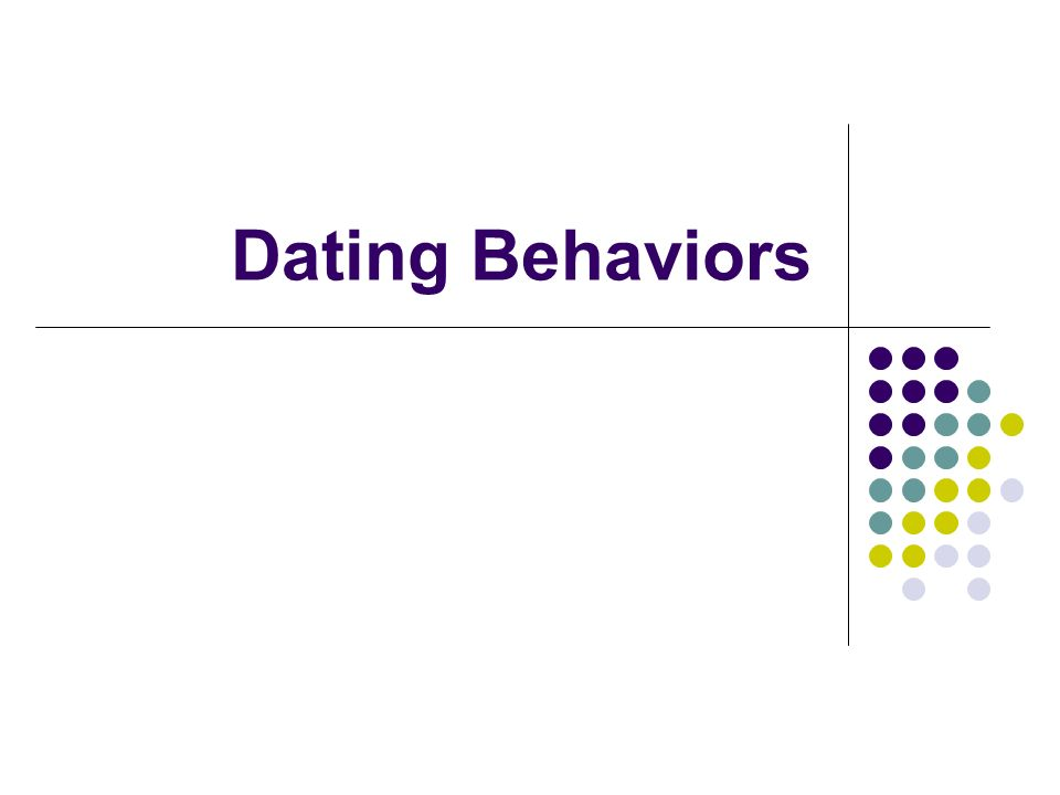 appropriate dating behaviors