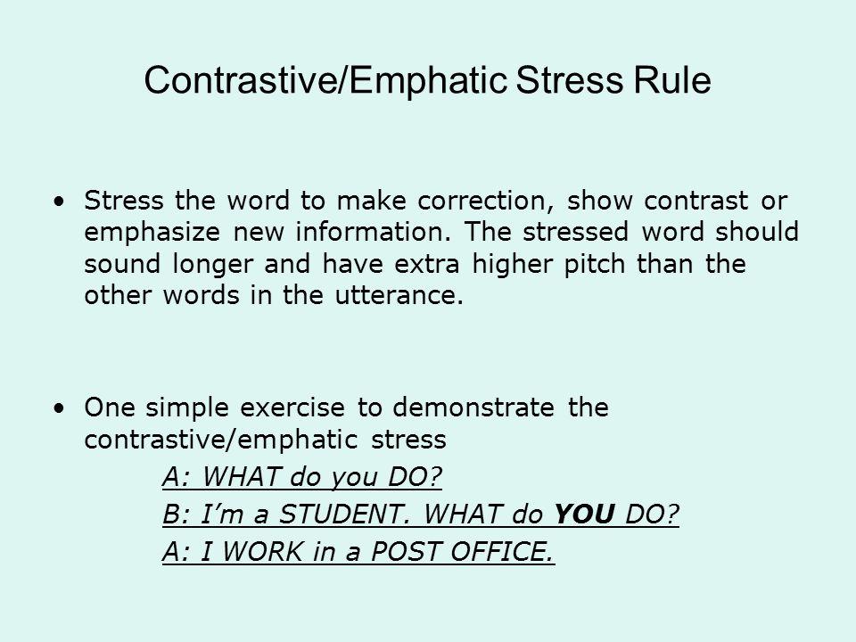 emphatic stress pdf