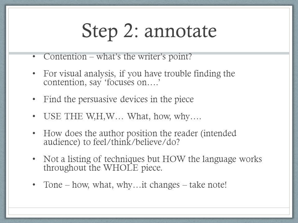 how to write an english analysis