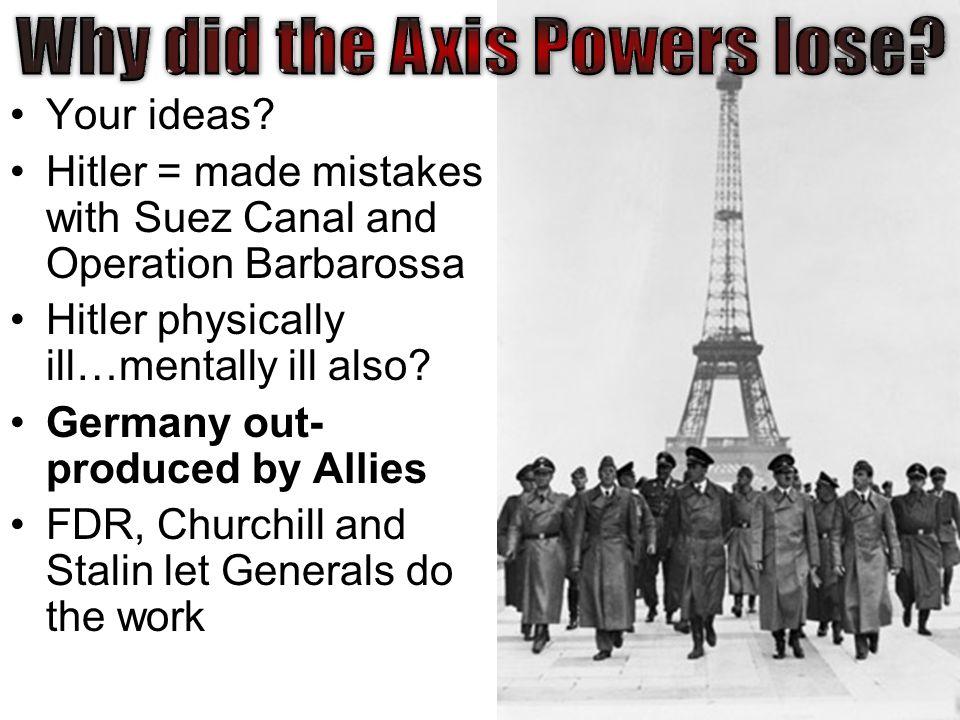 how did the allied powers won ww2