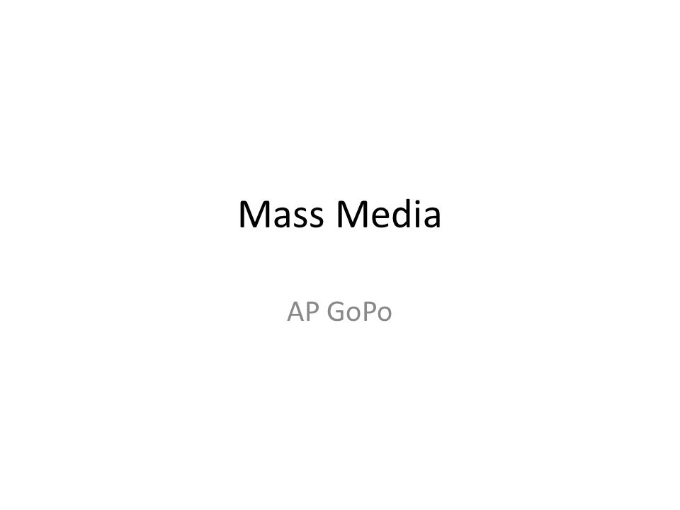 Mass Media AP GoPo