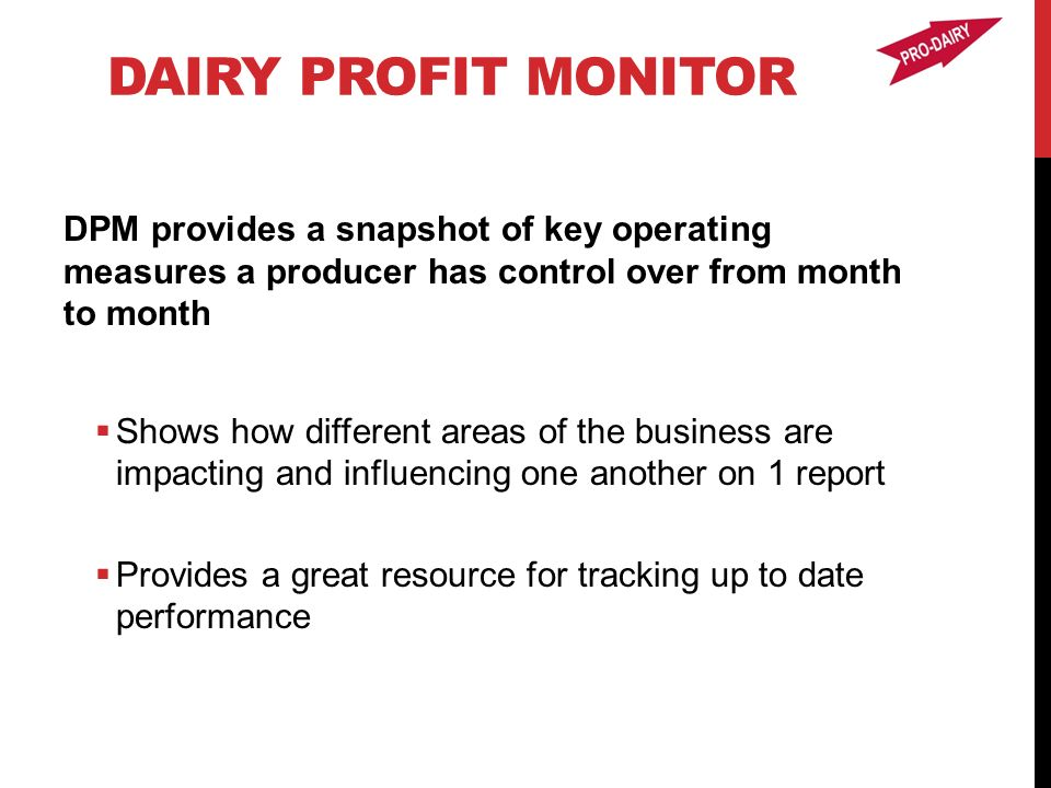 dairy profit monitor and activity analysis projects betsey howland