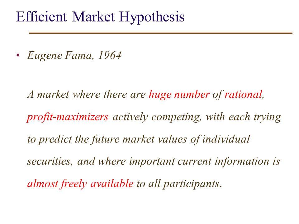 Efficient market hypothesis.