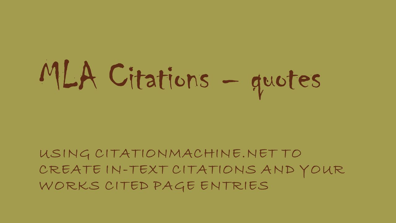 works cited quotes