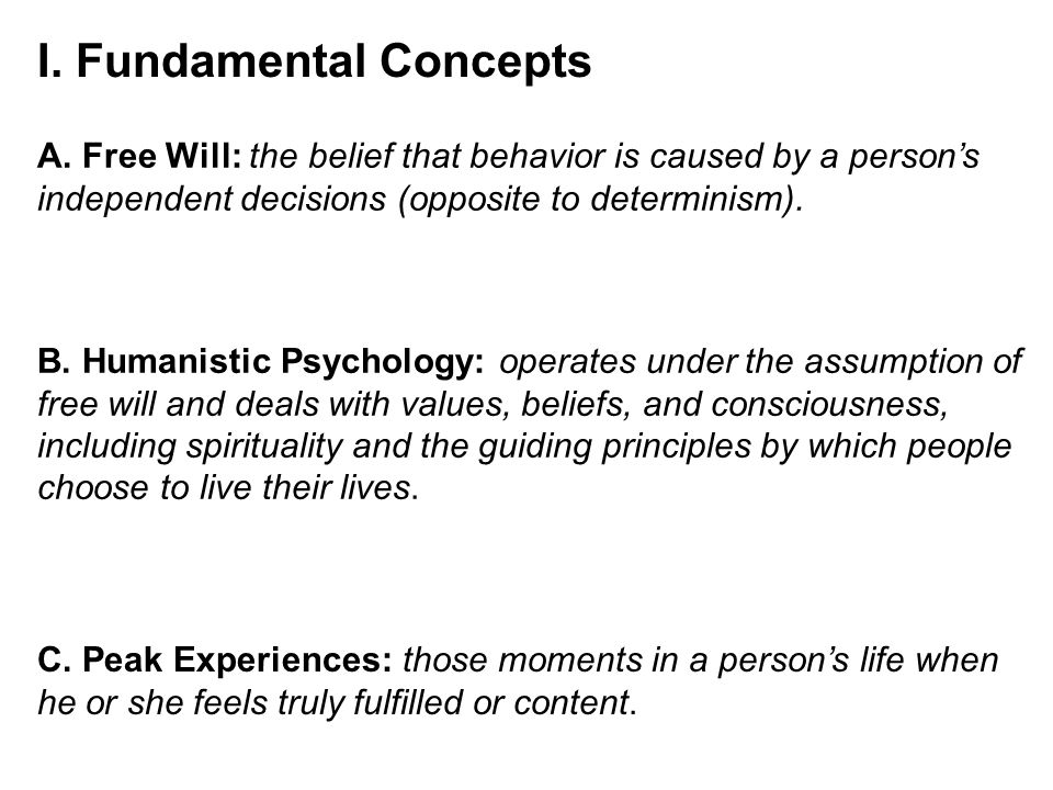 principles of humanistic psychology