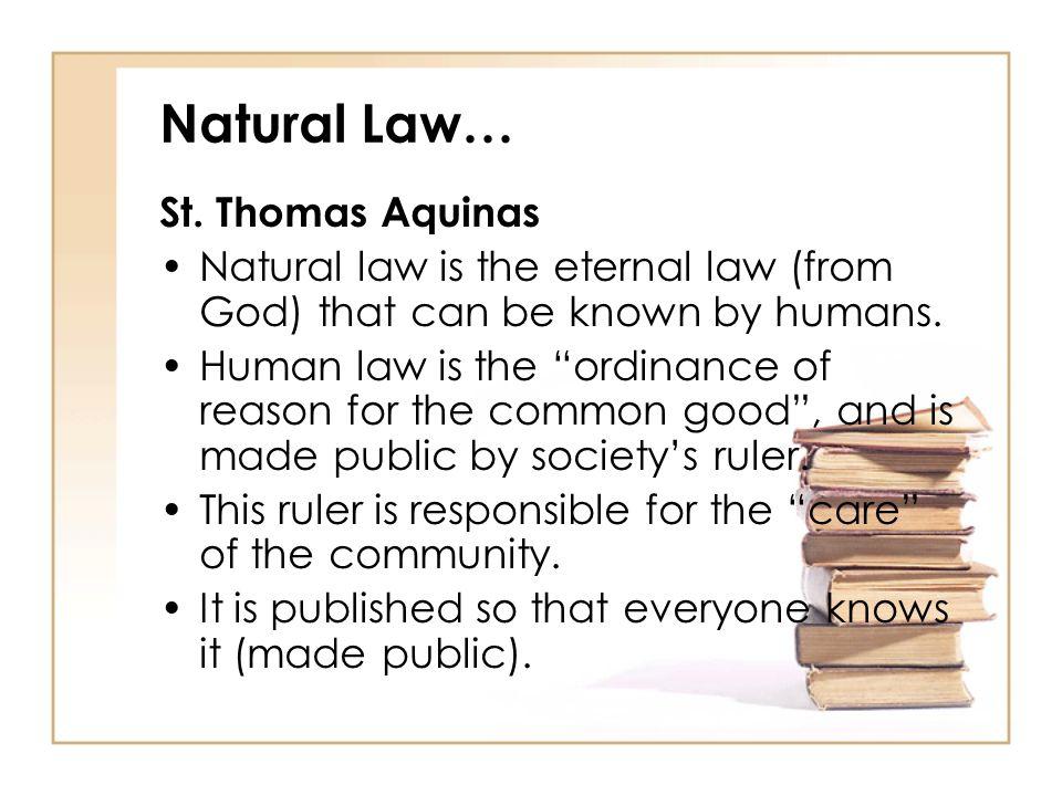 st thomas aquinas law