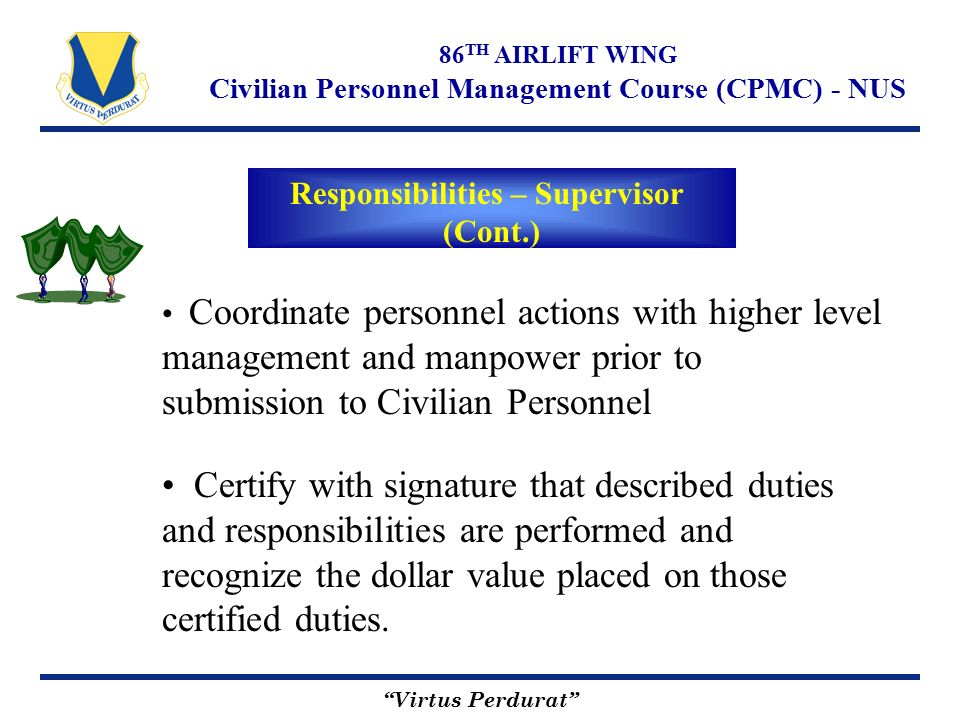 Virtus Perdurat 86 Th Airlift Wing Civilian Personnel Management