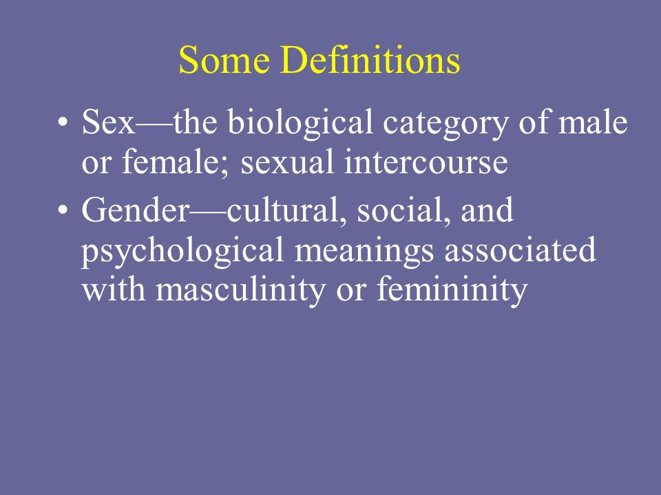 Role of male and female in sexual intercourse
