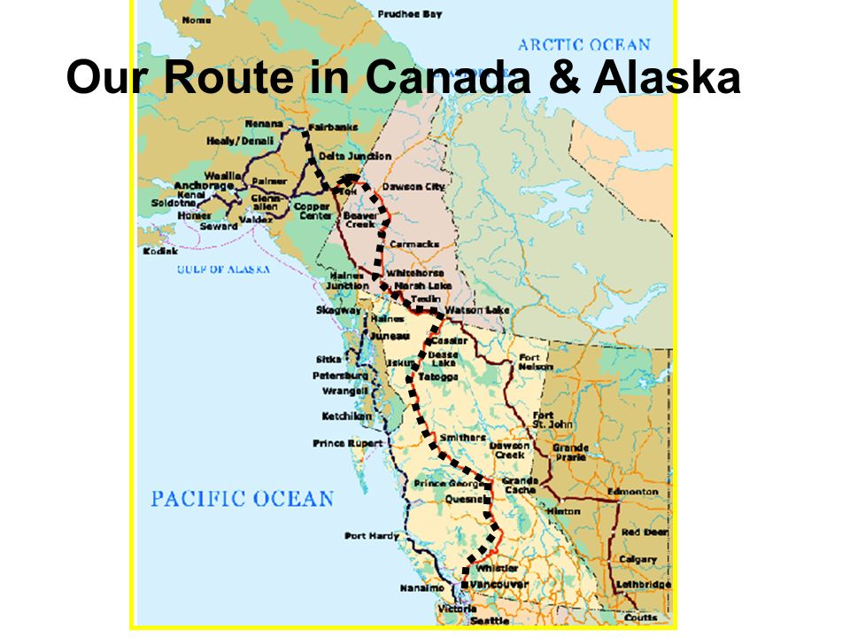 Map Of Canada Yukon River.Yukon Alaska Our Route In Canada Alaska Yukon Drainage Divides