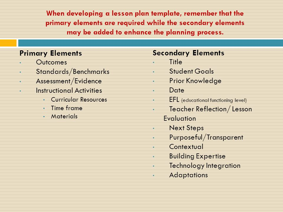 Required Elements Standards Are The Centerpiece Of A Strong