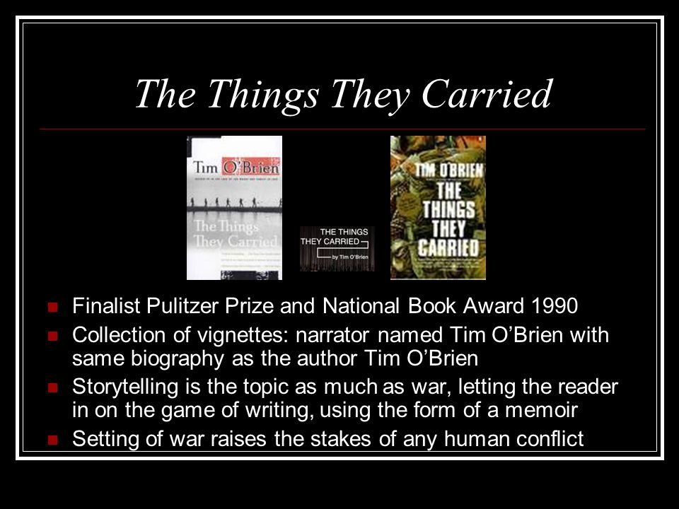 the things they carried conflict