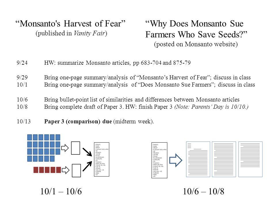 monsantos harvest of fear essay